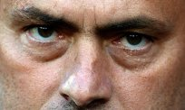 A close-up of José Mourinho's eyes